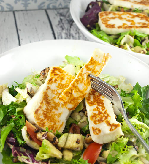 Grilled Haloumi With Panzanella